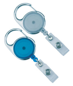 Retractable Badge Holder with lanyard - Transparent