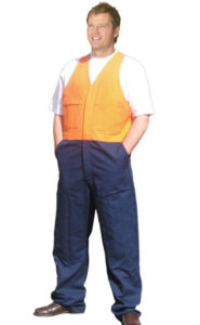 Hi-Vis cotton drill action overall (Stout)
