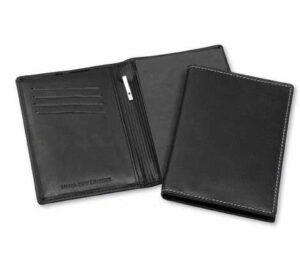Leather Pock Notebook W/ White Stitching