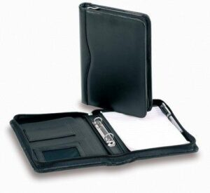 A5 Bonded Leather Compendium W/ 2 Ring Removable Binder