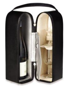 Deluxe Leather Double Wine Tote (Nappa) - Made To Order