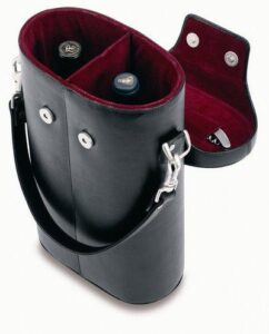 Deluxe Leather Top Loading Double Wine Tote (Includes WF1)