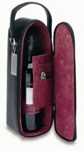 Bonded Leather Single Wine Tote W/ Suede Interior (Includes WF1)