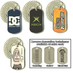 Stainless Steel Dog Tag With 76Cm Ball Chain
