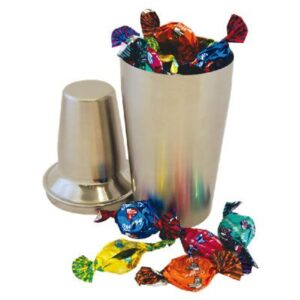 Toffees Assorted In Stainless Steel Cocktail Shaker