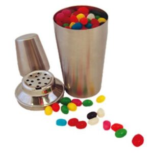 Gourmet Mini Jelly Beans In Stainless Steel Cocktail Shaker