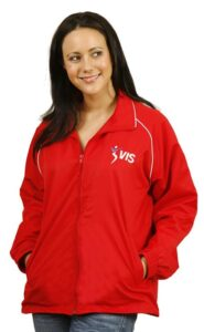 Competitor Adults track top: Nylon rip-stop shell with polyester mesh lining