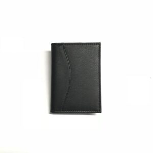 BLACK COW LEATHER CARD CASE