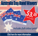 Special Offer on Australia Day Hand Waver Flags