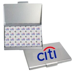 Full Color Custom Printed Mints in Metal Business Card Case