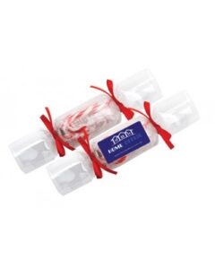 CLEAR CHRISTMAS CRACKERS WITH CANDY CANES