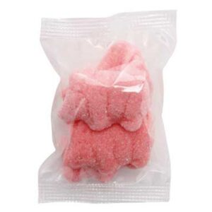 SMALL CONFECTIONERY BAG - PINK PIGS