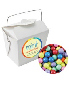 PAPER NOODLE BOX WITH MIXED CHOCOLATE BALLS