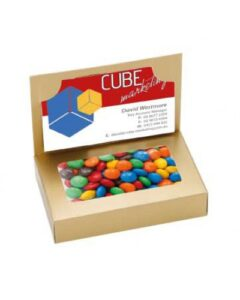 BUSINESS CARD BOX WITH M&Ms