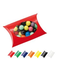 WINDOW PILLOW BOX WITH MIXED CHOCOLATE BALLS