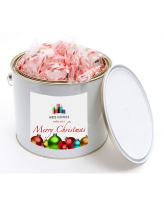 6 LTR PAINT BUCKET WITH MINI CANDY CANES