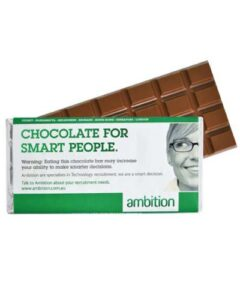 LARGE CHOCOLATE BAR WITH WRAPPER- COVERTURE CHOCOLATE