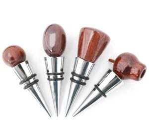 BOTTLE STOPPERS JARRAH OR CHROME WITH AUSTRALIAN PENNY