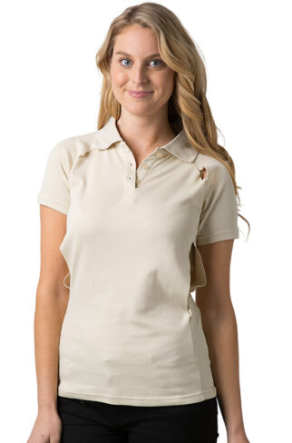 Ladies Polo Shirt With Contrast Piping