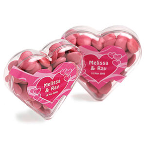 Acrylic Heart Filled with Choc Beans 50G