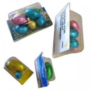 Biz Card Treats Filled With Easter Eggs