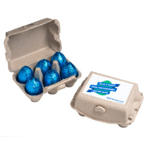 Carton With X6 Chocolate Eggs