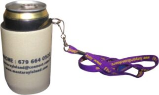 """""""Handy Tag"""" Stubby Holder with Base & Taped Seam - Screen Print"""