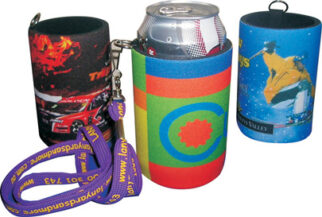 """""""Handy Tag"""" Stubby Holder with Base & Taped Seam - Full Colour"""