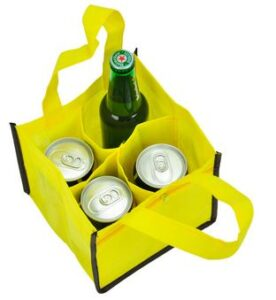 4 Pack Can Bag with Zipper Pocket