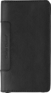 Leather Charles Dickens® zipper travel wallet