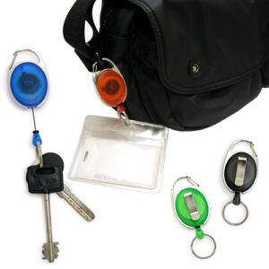 Badge Holder with Drawstring and Clip