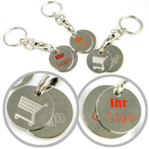CHF Coin Set Keychains in Nickel Plating