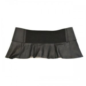Kate Peplum Genuine Leather Dress Belt