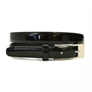 Lacey Black Bonded Leather Basic Belt