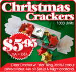 Clear Christmas Crackers