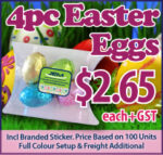 Pillow Pack Filled With Mini Solid Easter Eggs X4 Eggs, 30G