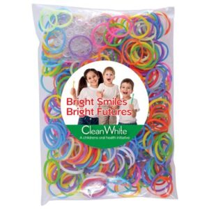 Assorted Colour Logo Loom Bands in Poly Bag (STOCK)