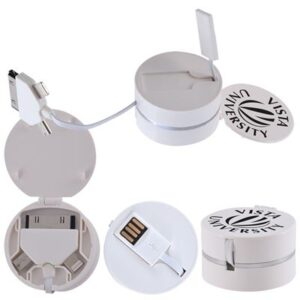 Hideaway 3 in 1 Retracting USB Cable Connector (STOCK)