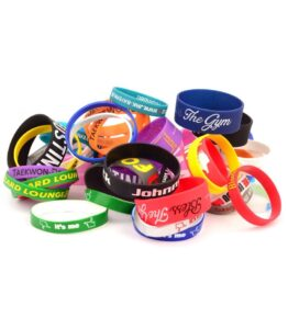 Debossed Silicone Wrist Band With Inkfill