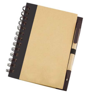 Go-green notebook and pen