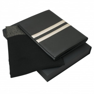 IPAD POUCH AND A SCARF SIENNA BLACK & GOLD GIFT SETS
