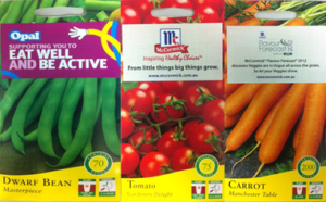 Over-label Seed Packets