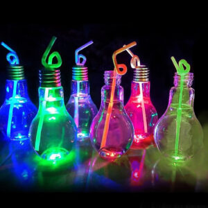 300ml Light Up Bulb Shaped Plastic Bottle