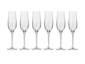 Krosno Harmony Champagne Flute 180ML 6pc Gift Boxed