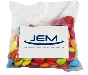100 GRAMS CUSTOM PRINTED SMARTIES / CHOCOLATE BEANS