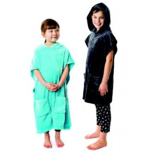 Microfibre Kids Hooded Poncho To Fit 5-10 Years Old