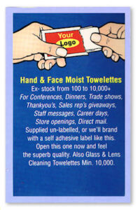 Towelette for Hands & Face