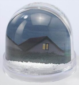 Snowdome Photo Insert dome shape 90 x 80mm