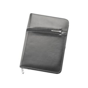 A5 Zippered Leather Compendium