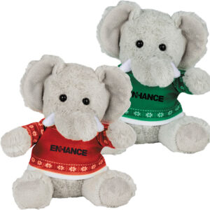 Ugly Sweater 6 Inch Elephant - Green